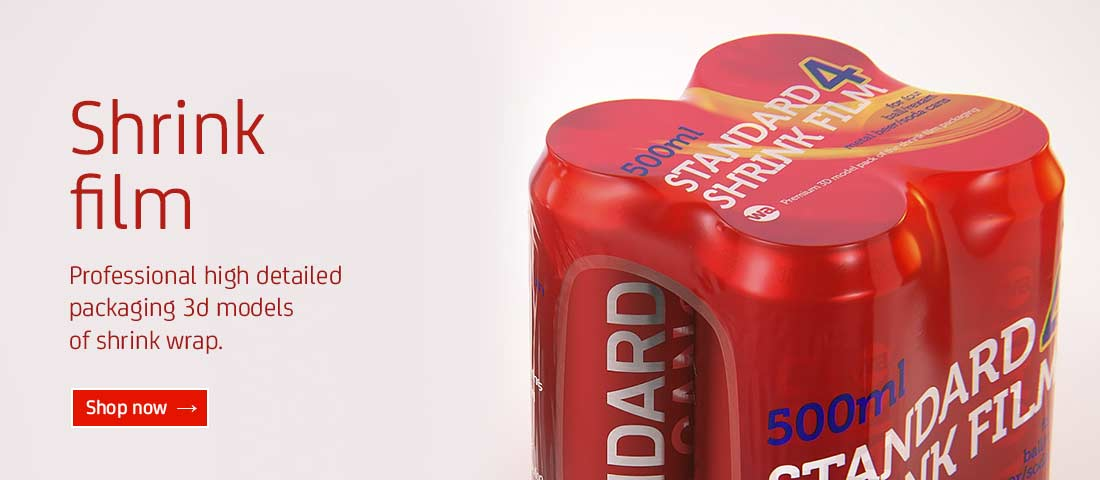 Shrink film packaging 3D models for Download