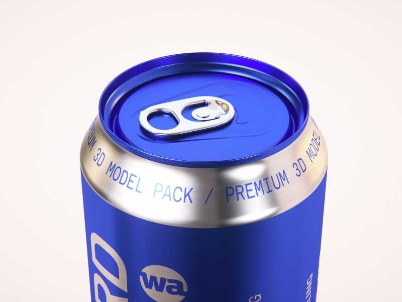 6 (six) Shrink Film packaging 3D model pack with Soda Can 473ml