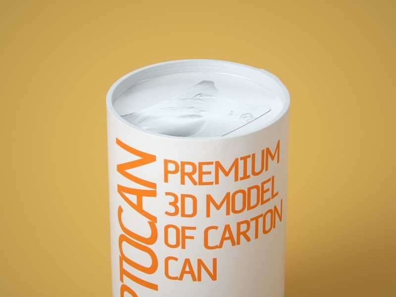 CartoCan 150ml and 250ml Premium packaging 3D model pak.