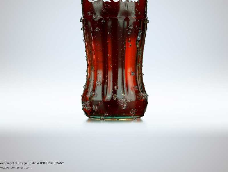 Free packaging 3D Model and Scene of Coca-Cola bottle (Octane Render)