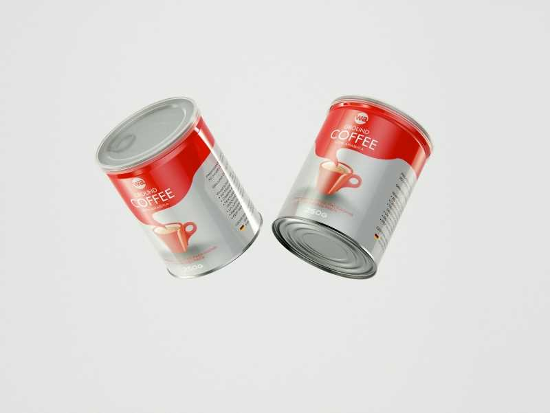 Coffee Metal Can 250g packaging 3d model