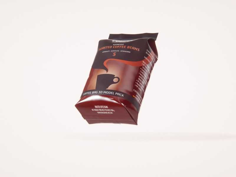 Coffee Bag 1000g (Wide) for Roasted Coffee packaging 3d model