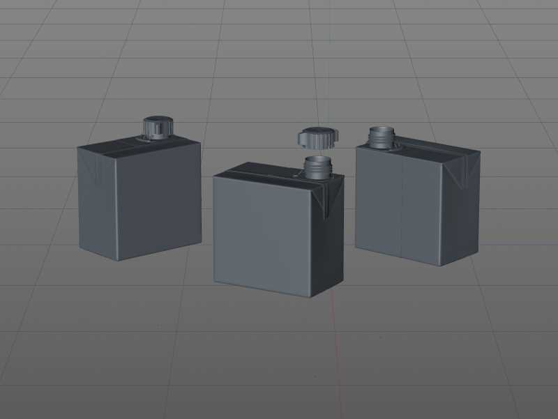 SIG combiBloc Compact 250ml with combiSmart closure packaging 3D model