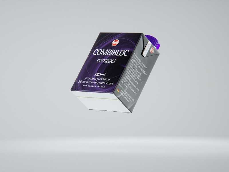 SIG combiBloc Compact 330ml with combiSmart closure packaging 3D model