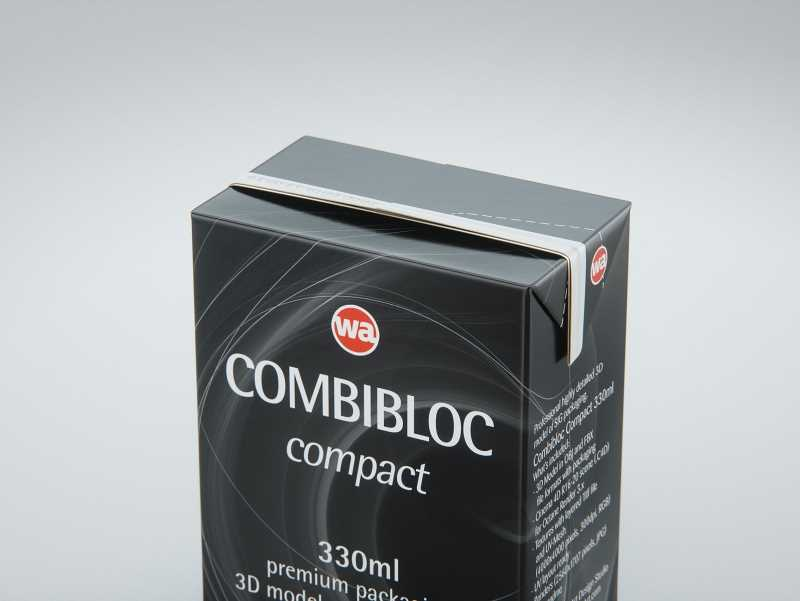SIG combiBloc Compact 330ml with perforation, straw hole and no opening packaging 3D model