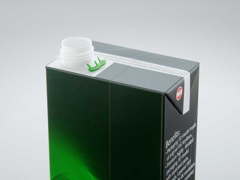 SIG combiBloc Compact 400ml with combiSmart closure packaging 3D model