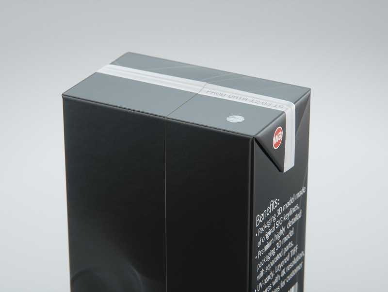 SIG combiBloc Compact 400ml with perforation, straw hole and no opening packaging 3D model