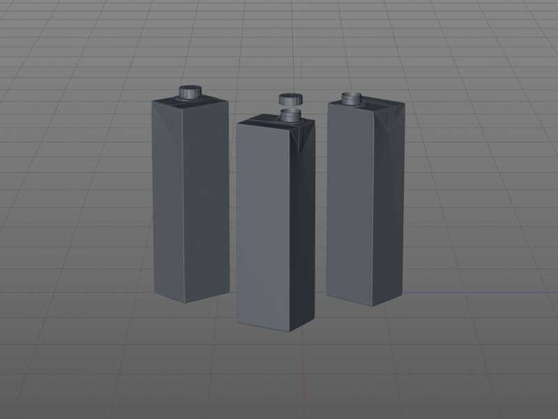 3D model of the SIG Combibloc Premium packaging 1000ml with combiSwift closure