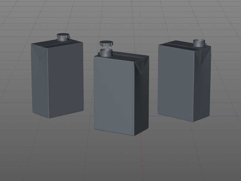 Packaging 3D model of the SIG Combibloc Slimline 750ml with combiCap