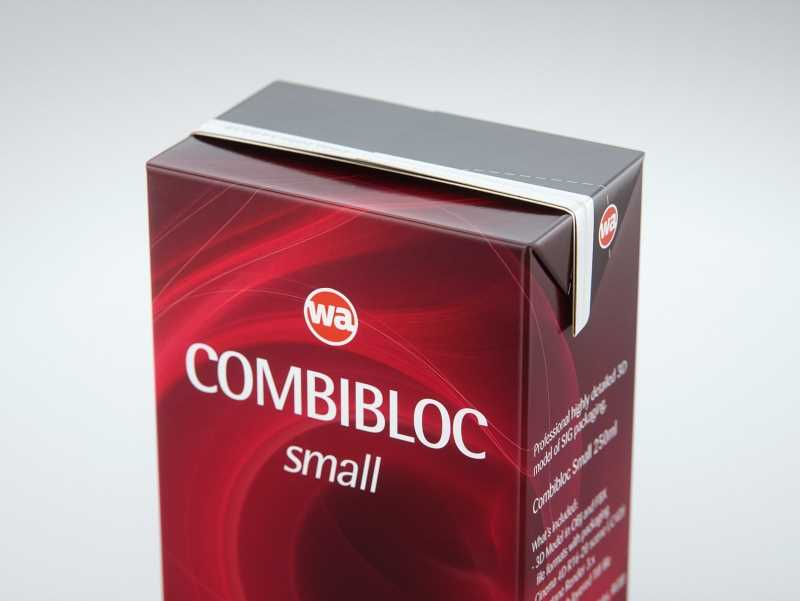 SIG CombiBloc Small 250ml with perforation and a straw hole packaging 3D model pak