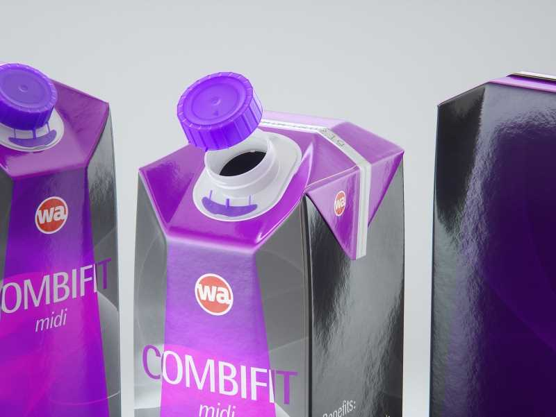 SIG combiFit Midi 1000ml with combiSwift closure packaging 3D model