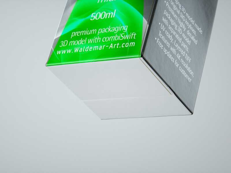 SIG combiFit Midi 500ml with combiSwift closure packaging 3D model