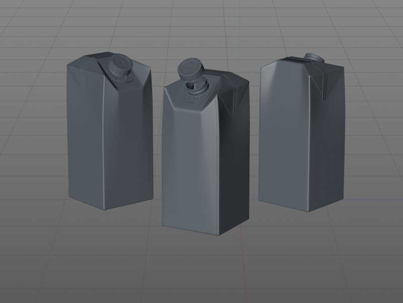 SIG Combifit Midi 750ml with CombiSwift carton packaging 3D model