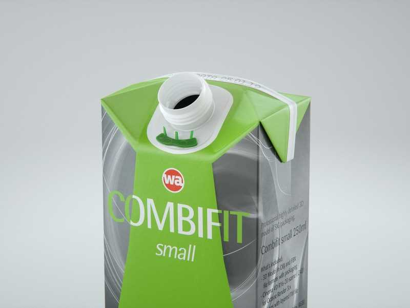 SIG combiFit Small 250ml with combiSmart closure packaging 3D model