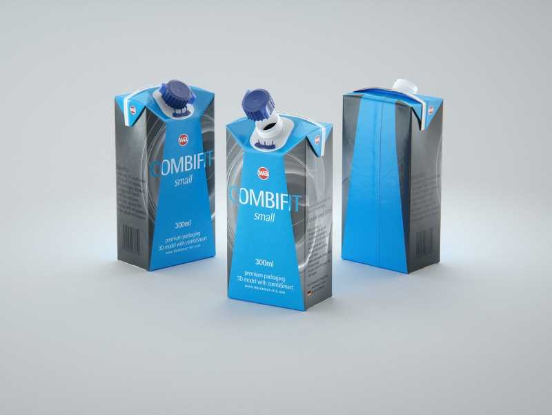SIG combiFit Small 300ml with combiSmart closure packaging 3D model