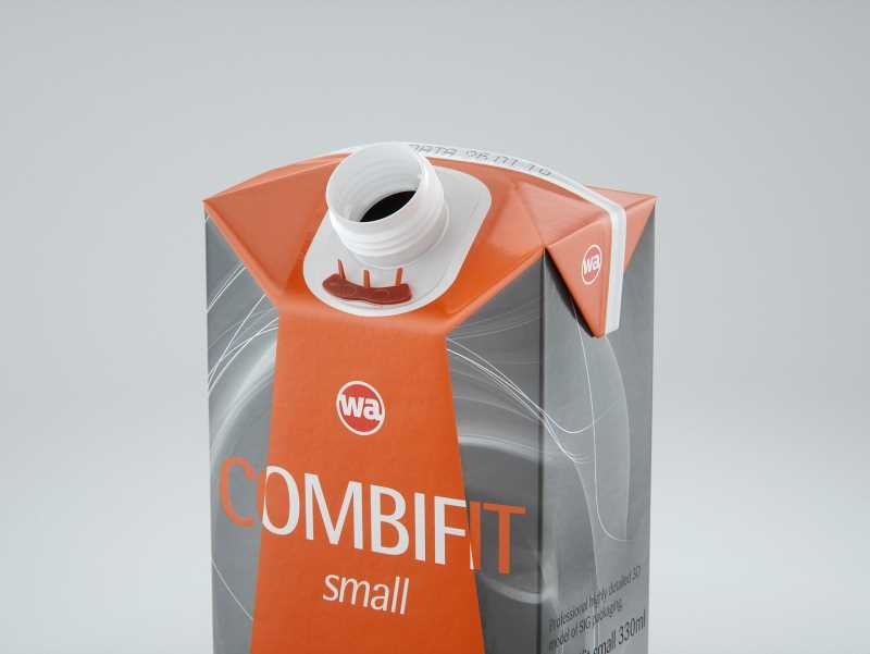 SIG combiFit Small 330ml with combiSmart closure packaging 3D model