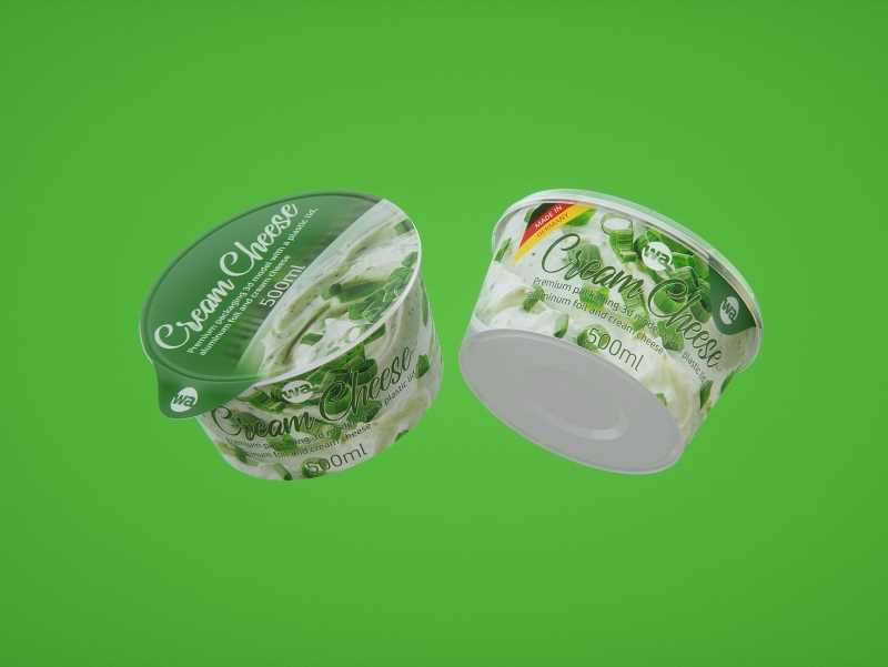 Cream Cheese Plastic cup premium packaging 3D model 500ml