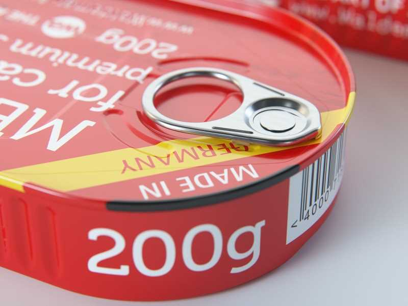 Metal Can 200g for canned fish food packaging 3D model pack with pull tab
