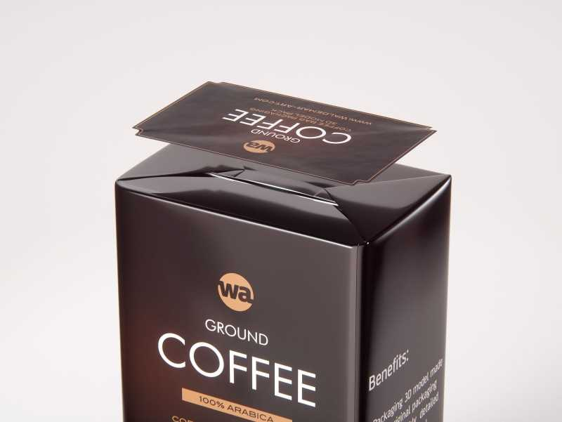 Ground Coffee Packaging 500g 3d model pack