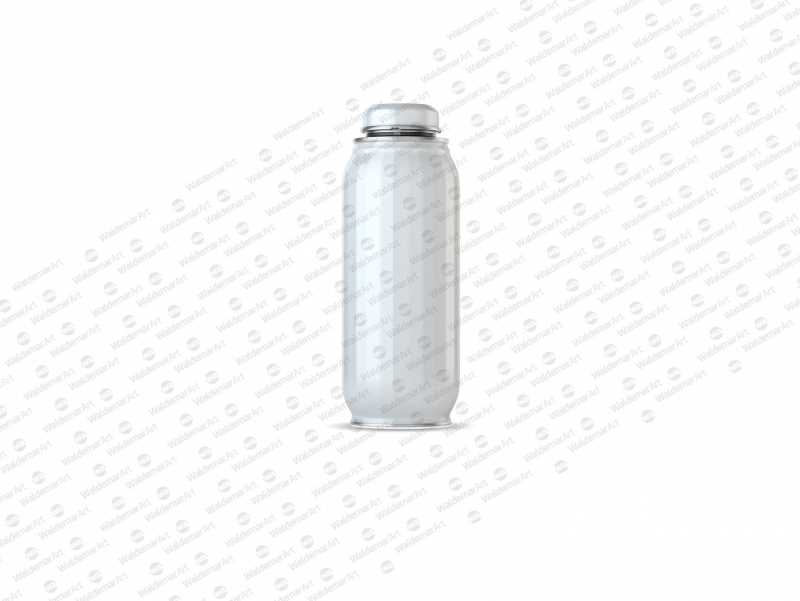 Packaging MockUp of Metal Bottle For Juices and other drinks