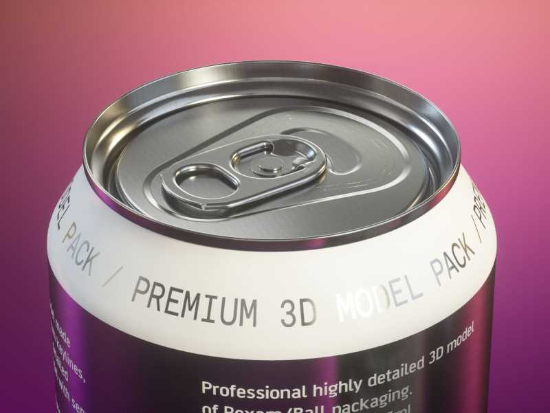 Ball/Rexam Soda Metal Can 250ml Premium 3D model pack