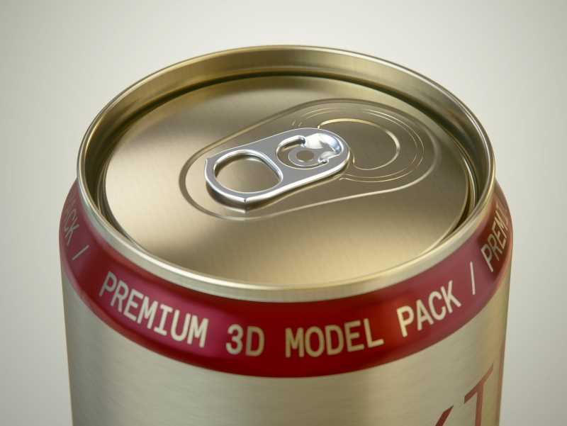 Rexam/Ball Aluminum KING Beer Can 1000ml premium packaging 3D model