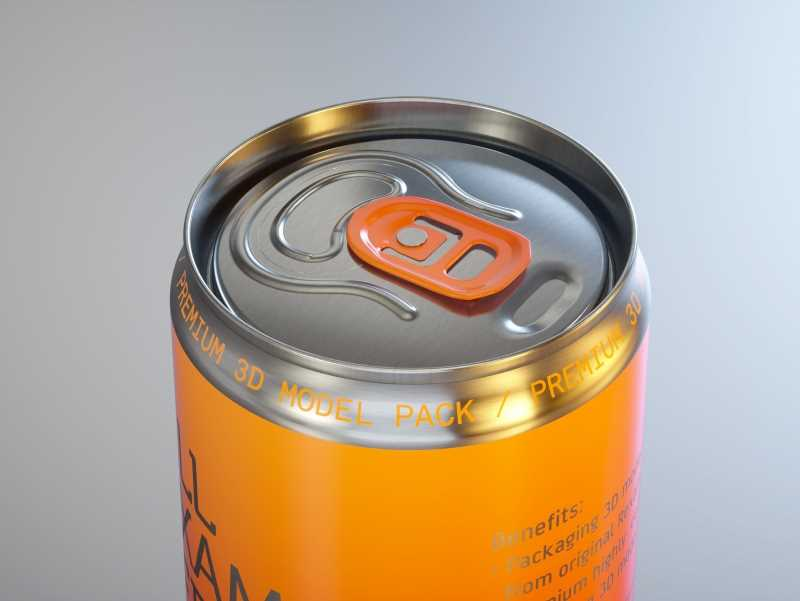 Ball/Rexam Soda Metal Sleek Can 330ml Premium 3D model pack