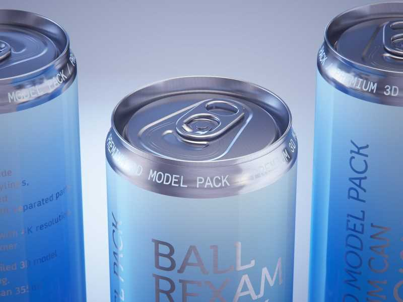 Ball/Rexam Metal Sleek Can 355ml Premium 3D model pack