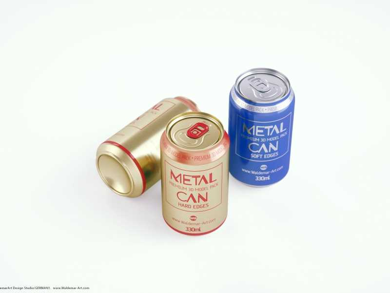 BALL (REXAM) Metal Standard Soda Can 330ml packaging 3D model