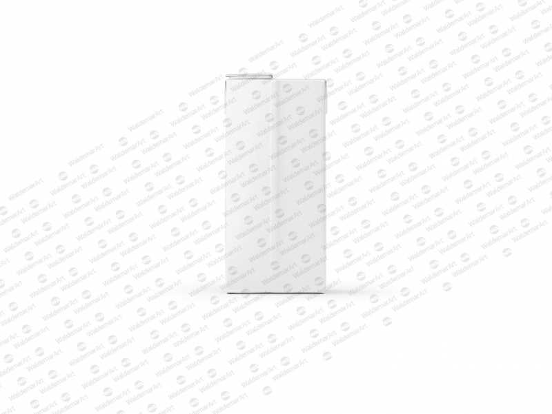Tetra Pack Brick Mockup Aseptic 1000ml Slim with ReCap3 - Front view