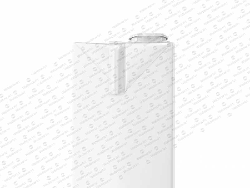 Tetra Brik Mockup Aseptic 1000ml Slim with ReCap3 - Side view