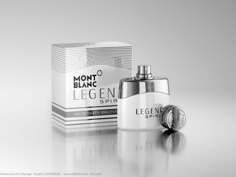 MontBlanc Legend Spirit 3D scene (Octane) and packaging model pack