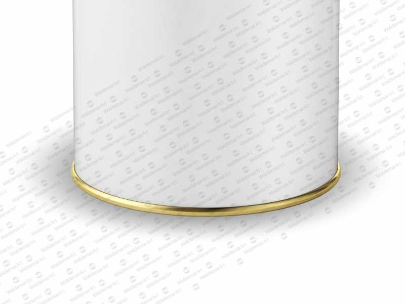Packaging Mockup of an Olive oil Metal Tin Rounded Can 1.5Le with Closed Cap