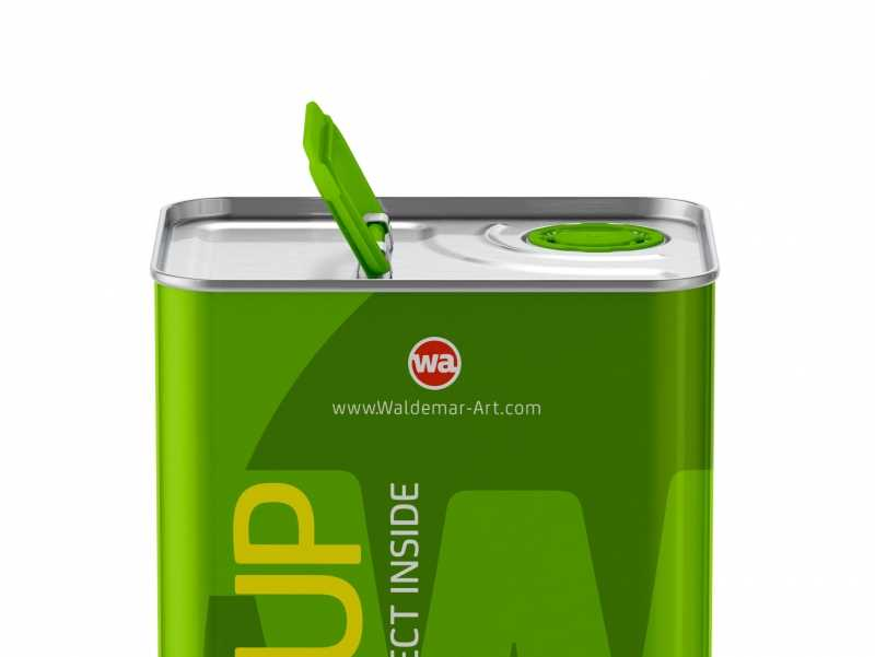 Olive Oil Metal Can 3Le Packaging Mockup Front View