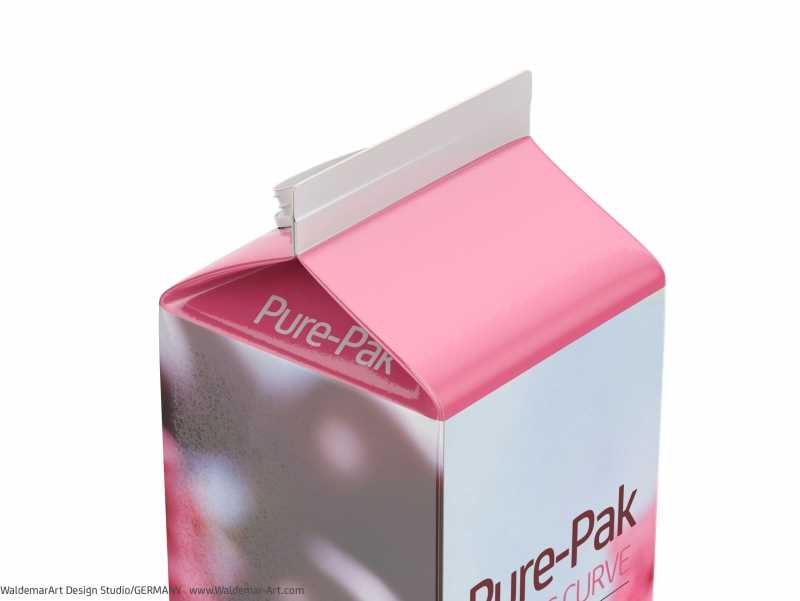 Elopak Pure-Pak Classic Curve 1000ml packaging 3d model