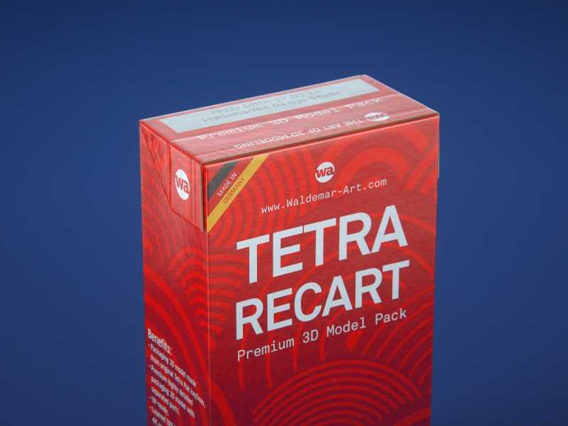 Tetra Pack Recart 500ml Premium carton packaging 3D model pak