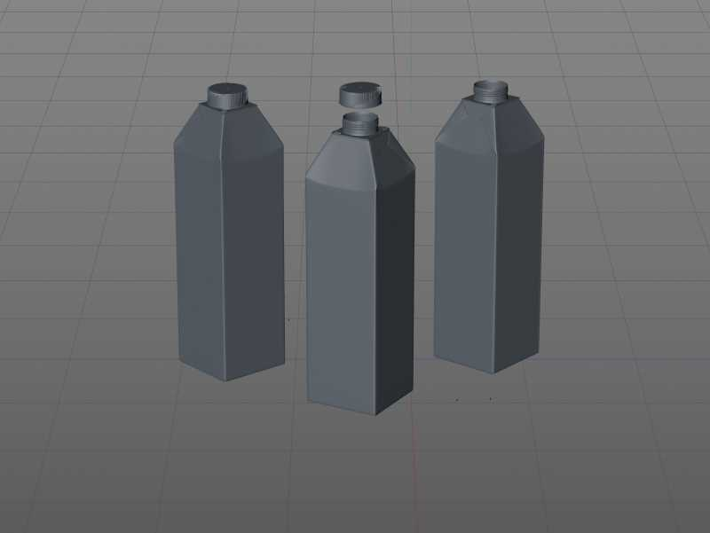 SIG Combidome 1000ml 3D packaging model