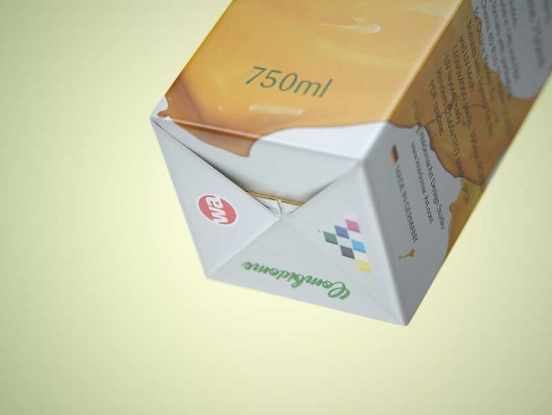 SIG Combidome 750ml premium carton packaging 3D model pak