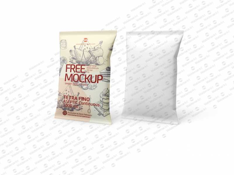 Free Packaging MockUp of Tetra Pack Fino Aseptic 1000 ml