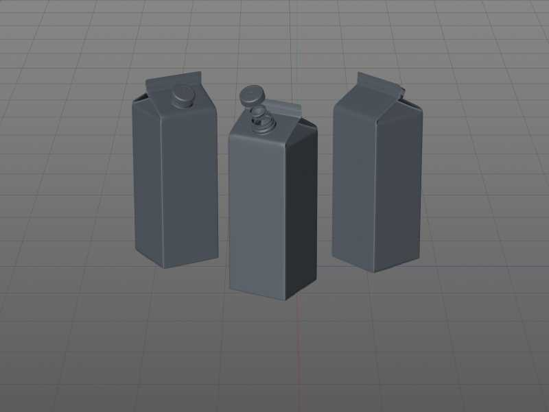 Tetra Pak Rex 2000ml carton package 3D models with TwistCap