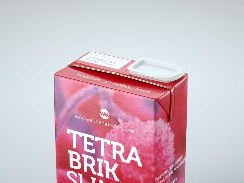 Tetra Pack Brik Slim 500ml with ReCap2 Premium package 3D model pak