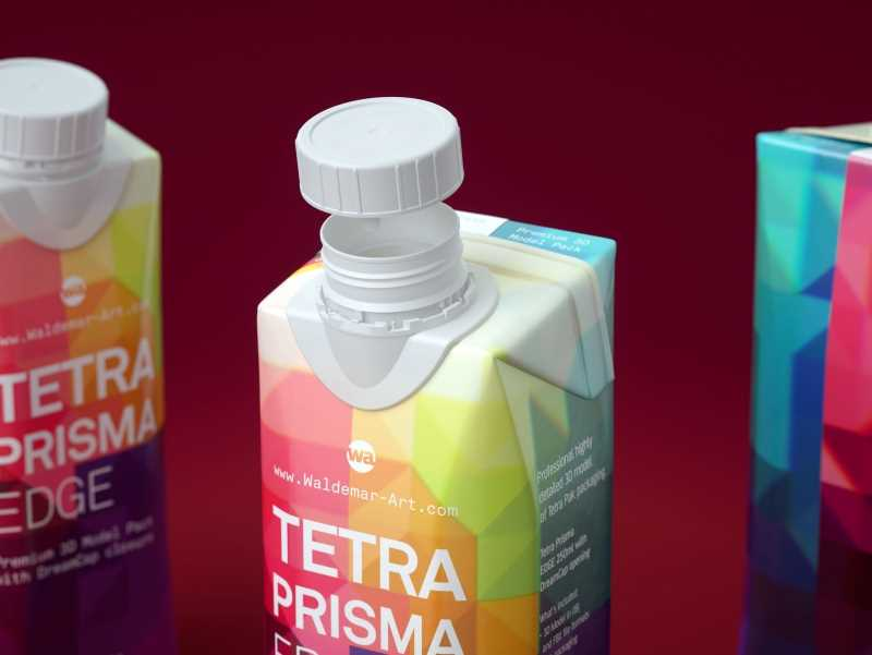 Tetra Pack Prisma EDGE 250ml Premium carton packaging 3D model pak