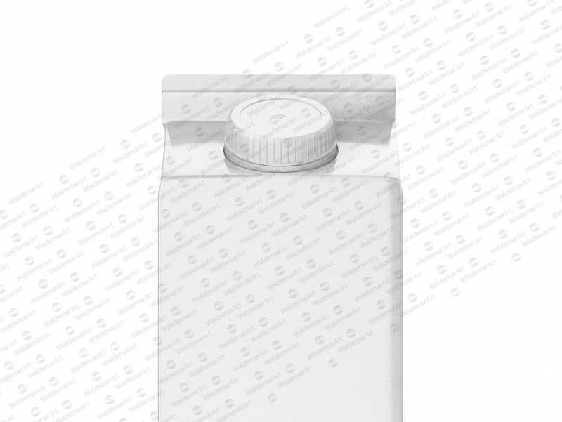 Photoshop Mockup of Tetra Pack Rex 1000ml with TwistCap Front View