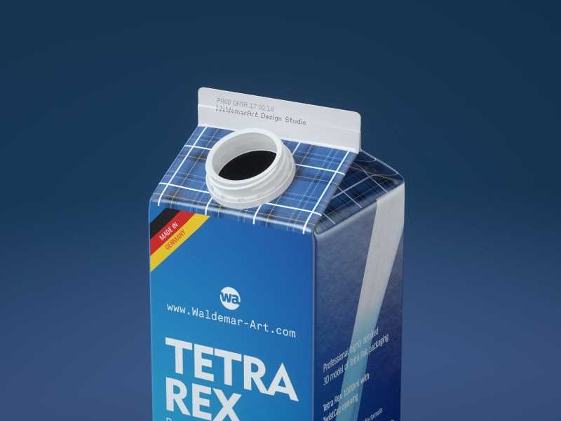 Tetra Pack Rex 500 and 1000ml carton package 3D model pak with TwistCap