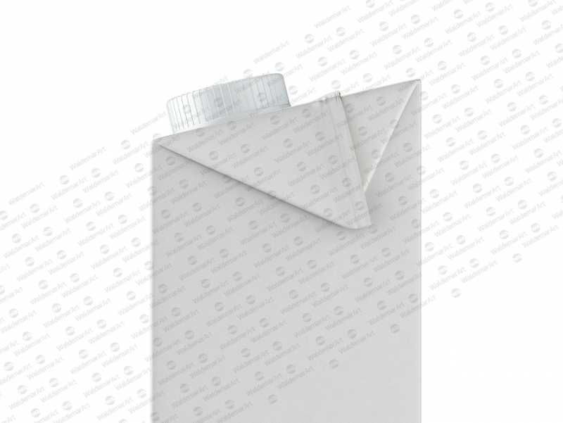 Packaging MockUp of Tetra Pack Brick Aseptic 1000ml with LightCap30 Side View