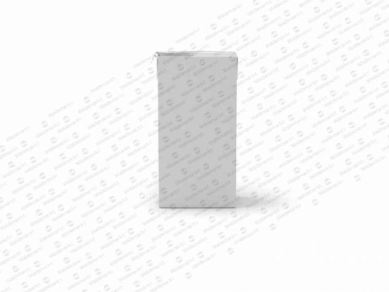 Tetra Pack Brick Mid 1000ml with FlexiCap PSD Mockup Front View