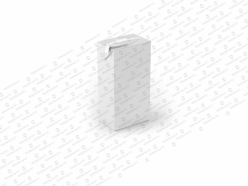 Packaging MockUp of Tetra Pack Brick Mid Aseptic 1000ml with FlexiCap Front-Side View