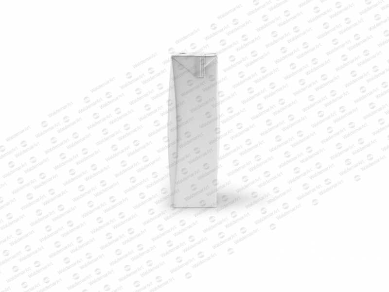 Tetra Pack Brick Slim Leaf 200ml Side View Photoshop Mockup