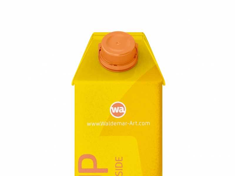 Tetra Pack Gemina Aseptic 1000ml Square Package MockUp with StreamCap Front View