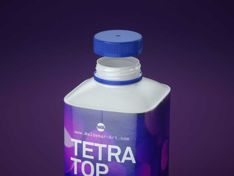 Premium 3d model pak of the Tetra Pack Top Base 500ml with Eifel O38 closer